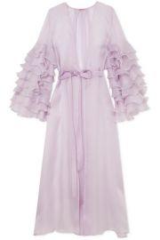 Rosamosario   Casino Royale ruffled silk-organza robe at Net A Porter