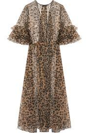 Rosamosario Bossie Bye leopard-print silk-organza robe at Net A Porter