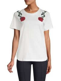 Rose Embroidery Tee  Maje at Saks Fifth Avenue