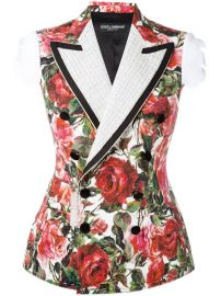 Rose Brocade Jacket by Dolce & Gabbana at Far Fetch