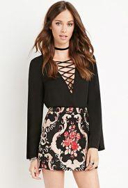 Rose Embroidered Mini Skirt  Forever 21 - 2000157104 at Forever 21