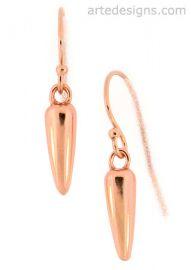 Rose Gold Spike Earrings at Arte Designs