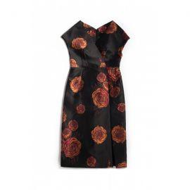 Rose Jacquard Dress at Aquilano Rimondi