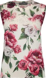 Rose Lace Top by Dolce & Gabbana at Neiman Marcus