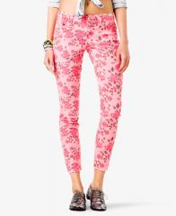 Rose Print Jeans at Forever 21