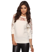 Rose lace sweatshirt at Forever 21