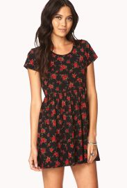 Rose print dress at Forever 21