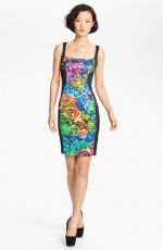 Rose print sheath dress by Just Cavalli at Nordstrom