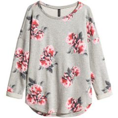 Rose print sweater at H&M