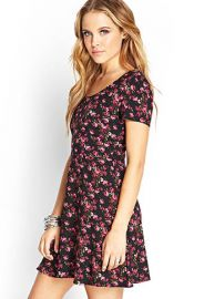 Rose print tea dress at Forever 21