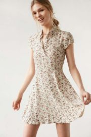 Rosebud Fit Flare Shirt Dress by Kimchi Blue at Urban Outfitters at Urban Outfitters