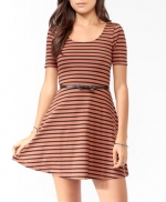 Rose's striped skater dress at Forever 21 at Forever 21