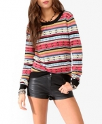 Rose's striped sweater from Forever 21 at Forever 21