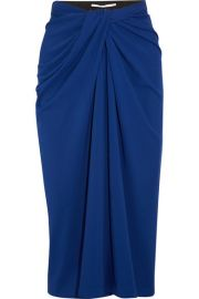 Rosetta Getty   Twist-front stretch-jersey midi skirt at Net A Porter