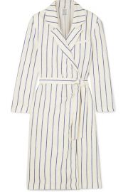 Rosie Assoulin   Striped linen wrap dress at Net A Porter