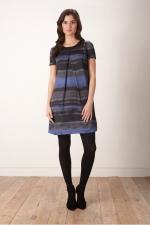 Rothko Stripe Digi Print Dress at Great Plains