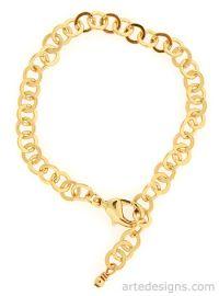 Round Link Gold Bracelet at Arte Designs