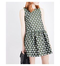 Rower parrot-jacquard dress by Maje at Selfridges