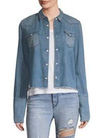 RtA - Ashley Denim Shirt at Saks Fifth Avenue