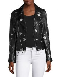 RtA - Nico Starred Raven Leather Biker Jacket at Saks Fifth Avenue