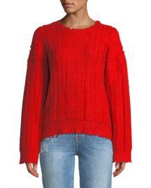 RtA Emmet Distressed Crewneck Sweater at Neiman Marcus
