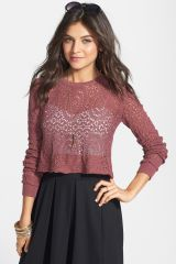 Rubbish open knit crop pullover at Nordstrom Rack