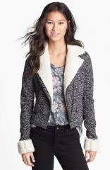 Rubbishand174 Fleece Lined Knit Jacket at Nordstrom