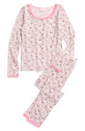 Ruby andamp Bloom Two-Piece Fitted Pajamas at Nordstrom