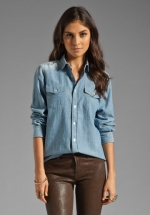 Rubys chambray shirt at Revolve at Revolve
