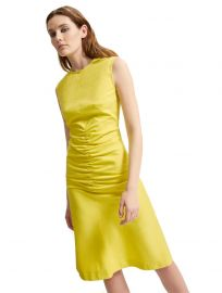 Ruched Gabardine Shift Dress by Sportmax at Sportmax