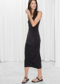 Ruched Midi Dress at & Other Stories