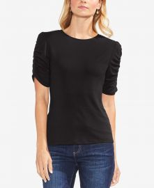 Ruched-Sleeve Top at Macys