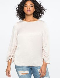 Ruched Sleeve Top by Eloquii at Eloquii