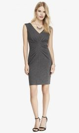 Ruched sheath dress at Express
