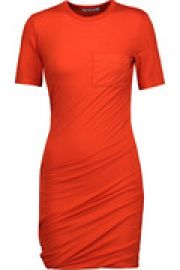 Ruched stretch-jersey mini dress at The Outnet