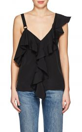 Ruffle Silk Blouse at Barneys