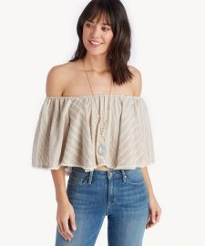 Ruffle crop top at Sole Society