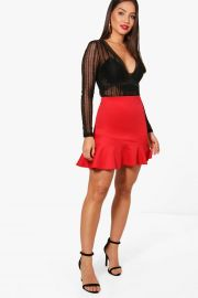 Ruffle skirt at Boohoo