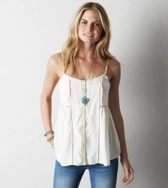 Ruffle tank at American Eagle