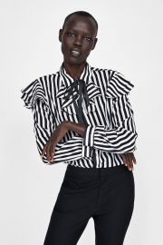 Ruffled Blouse with Bow by Zara at Zara