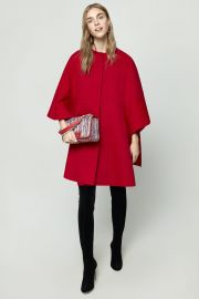 Ruffled Double-Faced Wool Cape by Carolina Herrera at Carolina Herrera