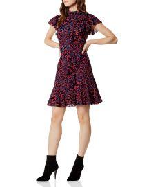 Ruffled Leopard Print Dress by Karen Millen at Bloomingdales