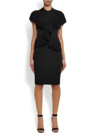Ruffled Ribbed-knit Dress by Givenchy at Net a Porter