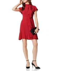 Ruffled Tie-Neck Dress by Karen Millen at Bloomingdales