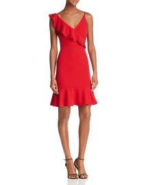 Ruffled V-Back Dress by Aqua at Bloomingdales
