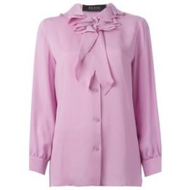 Ruffled collar blouse by Gucci at Farfetch