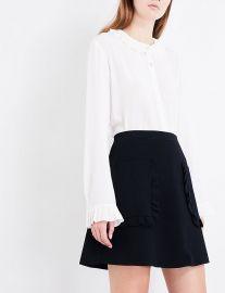 Ruffled-detail knitted skirt at Selfridges