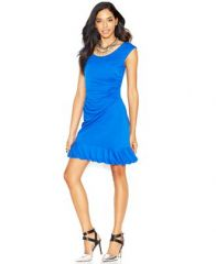 Ruffled hem dress by Betsey Johnson at Macys