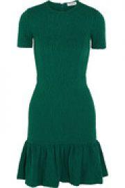 Ruffled matelassandeacute jersey mini dress at The Outnet