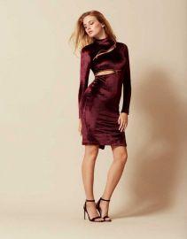 Ruth Velvet Zip Dress by Agent Provocateur at Agent Provocateur